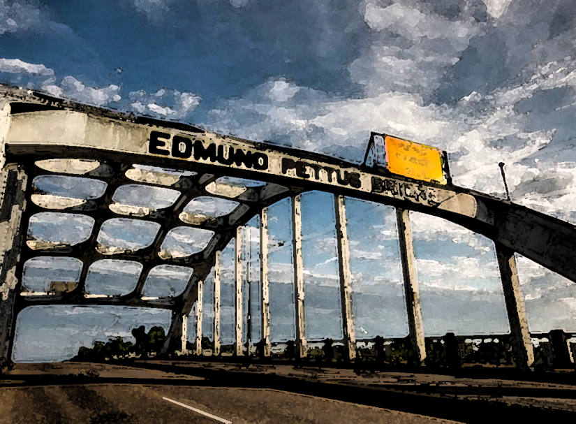 """Crossin' the Edmund Pettus Bridge """